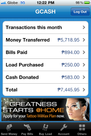 1 GCASH mobile app for Apple iPhone to hit App Store in March 2012
