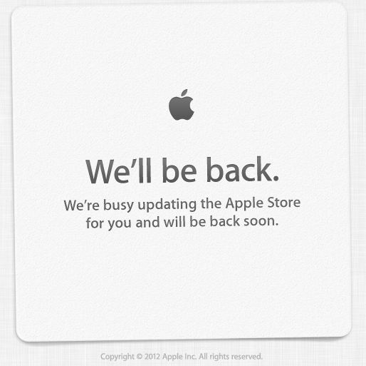 Apple Store is Down, Just in Time for the iPad Mini Launch?