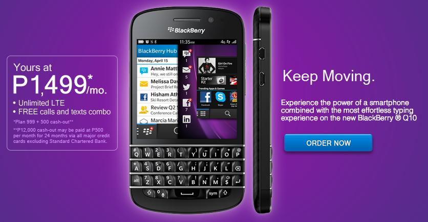 Globe Blackberry Q10
