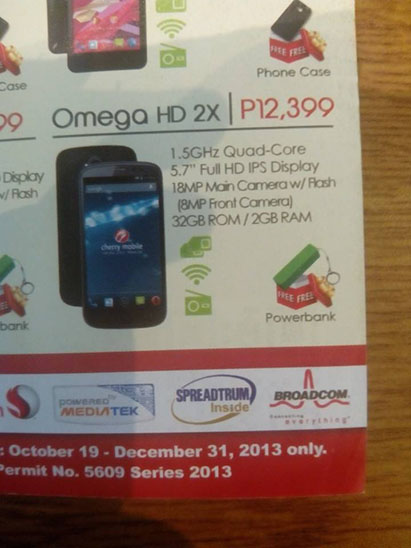 Cherry Mobile Omega HD2X