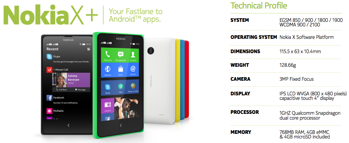 grey Nokia Launches Nokia X, X+ and XL, All Run on AOSP Based Android