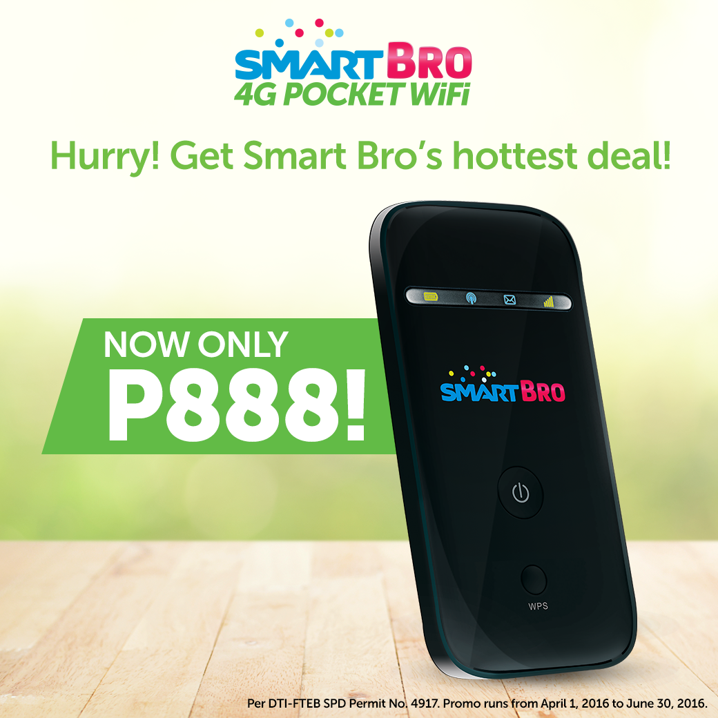 Smart Bro 4G Pocket Wifi ZTE MF65M is Now just PhP888, 64