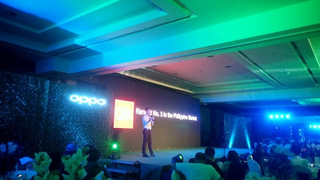 Mr. Stephen Cheng, OPPO's Brand Marketing Manager giving an introduction