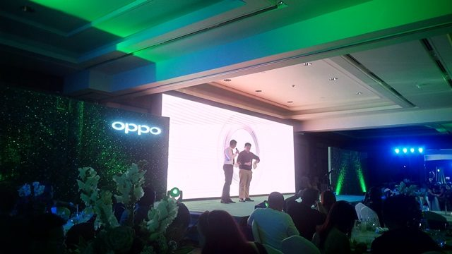 Mr. Garrick Hung, OPPO Operations Manager and Mr. Adam Bernasek, Head of Sales for Home Credit Philippines talking about the partnership between the two companies