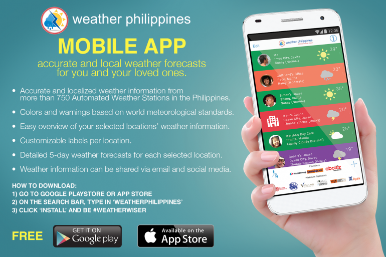 WeatherPhilippines tells you if you need to bring an umbrella with you