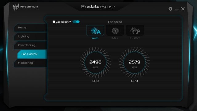 predatorsense5 640x362 - ACER Predator Triton 700 Review: A Synergy of Power and Form