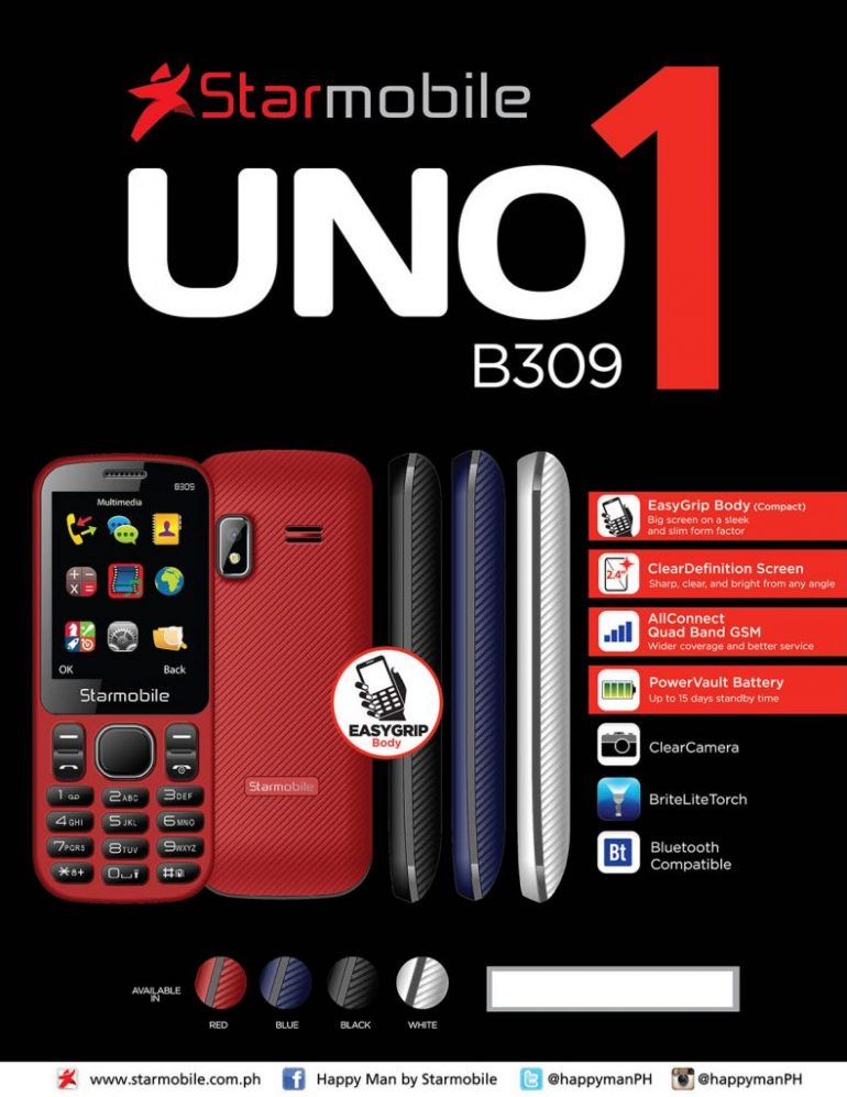 Starmobile UNO B309 Information sheet 770x997 - Starmobile Launches UNO B309 and UNO B510 in PH