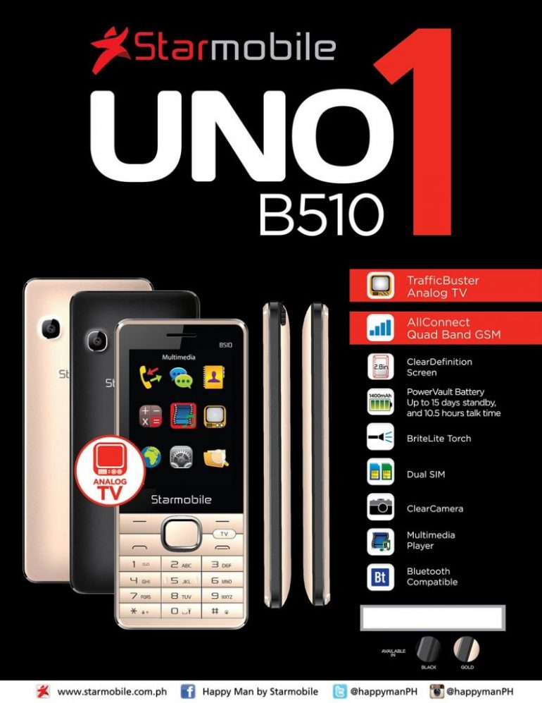 Starmobile UNO B510 information sheet 770x997 - Starmobile Launches UNO B309 and UNO B510 in PH