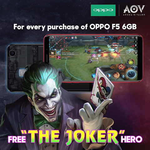 OPPO AOV Joker 480x480 - OPPO Announces Limited Edition Red OPPO F5 with 6GB of RAM!