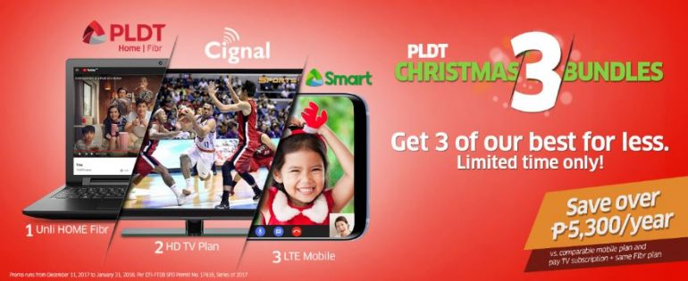 PLDT Christmas 3 Bundl 770x315 - Celebrate this Christmas season with PLDT's Christmas 3 Bundles Promo