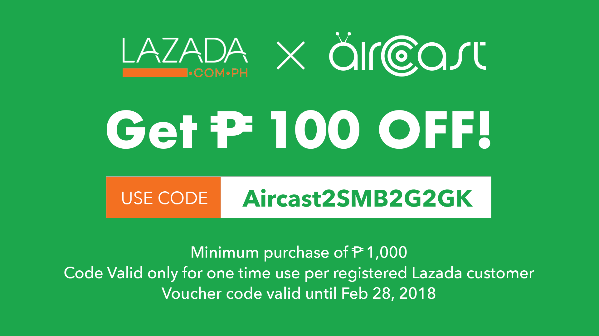 27267367 1935963396431896 950881729 o - Aircast teams up with Lazada to push discount vouchers to digital TVs nationwide