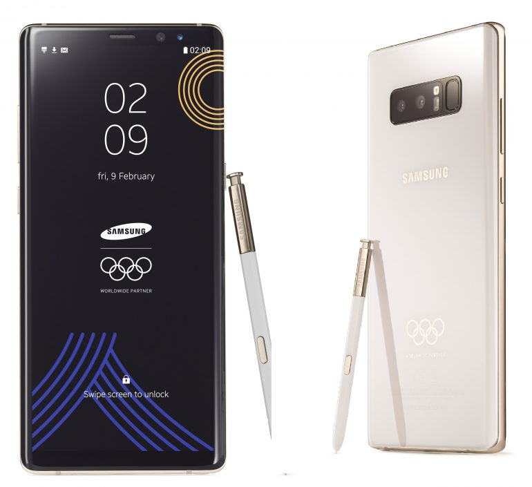 PyeongChang 2018 Olympic Games Limited Edition 1 770x705 - Samsung Announces Limited Edition Galaxy Note 8 for Upcoming Winter Games