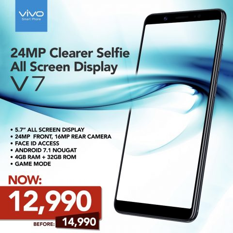 Vivo V7 24MP All-Screen Phone Now at Php12,990