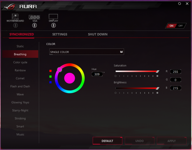 asus aura 1 770x602 - ASUS ROG Strix XG35VQ Curved Gaming Monitor Review: Bigger and Better