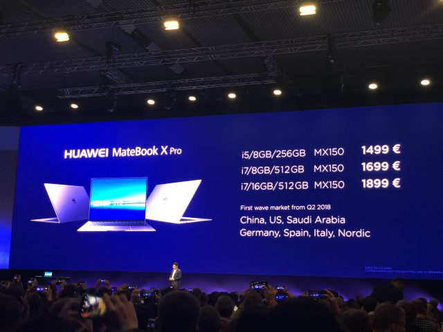 Huawei Mate X Pro Pricing 640x480 - The Huawei Matebook X Pro could be the best looking laptop ever