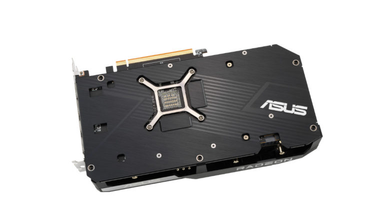ASUS Dual Radeon RX 6600 XT with backplate
