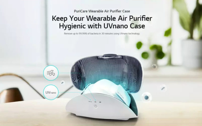 LG Puricare Wearable Air Purifier case