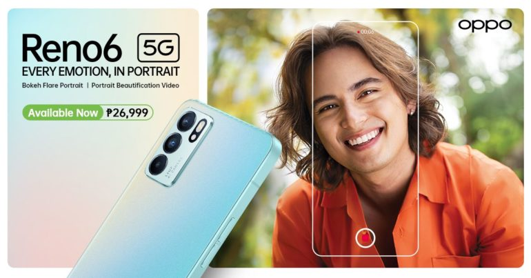 OPPO Reno6 5G Now Available in PH