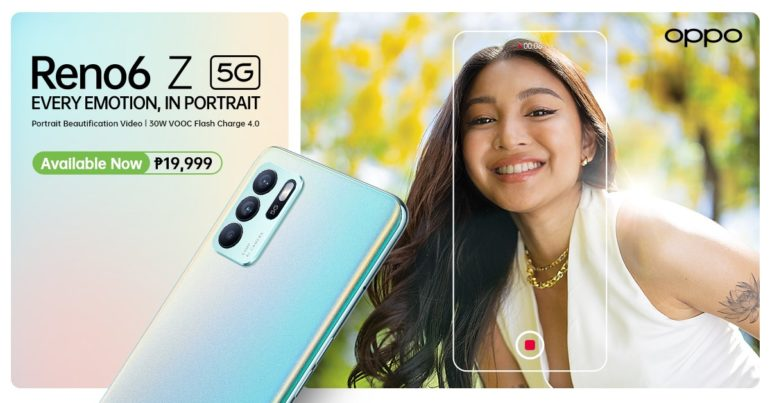 OPPO Reno6 Z 5G Now Available in PH