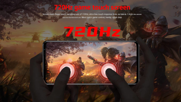 Red Magic 6S Pro 720Hz touch sampling